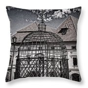 Medieval Cage Of Shame Throw Pillow
