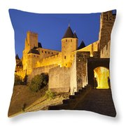 Medieval Carcassonne Throw Pillow
