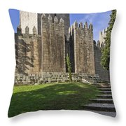 Medieval Castle Keep Throw Pillow