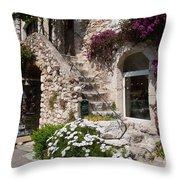 Medieval Saint Paul De Vence 3 Throw Pillow by David Smith