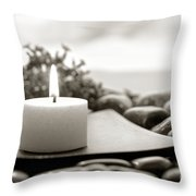 Meditation Candle Throw Pillow