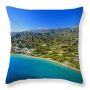 Mediterranean Sea From The Air Throw Pillow