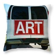 Meeting Warhol Throw Pillow by Laura Fasulo