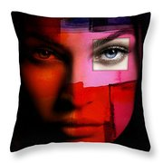 Megan Fox Throw Pillow