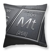 Meitnerium Chemical Element Throw Pillow