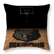 Memphis Grizzlies Throw Pillow
