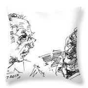 Men Talking Throw Pillow