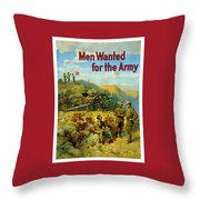Men Wanted For The Army Throw Pillow