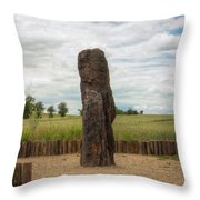 menhir Stone Shepherd Throw Pillow