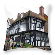 Mermaid Inn Rye Throw Pillow