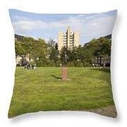 Merwedeplein In Amsterdam Throw Pillow