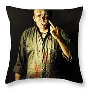 Message From Beyond The Tomb Throw Pillow