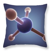 Methane Molecule Throw Pillow
