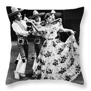 Mexican Folk Dance Throw Pillow