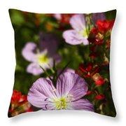 Mexican Primrose  Throw Pillow