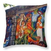 Mexican Wall Art Throw Pillow