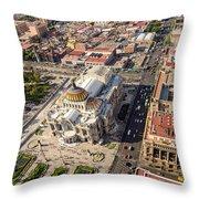 Mexico City Aerial View Throw Pillow