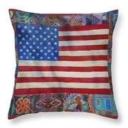 Mi Flag Throw Pillow