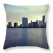 Miami Downtown Throw Pillow
