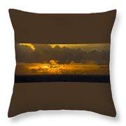 Miami Sundown Throw Pillow