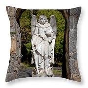 Michael Defeats Lucifer Throw Pillow
