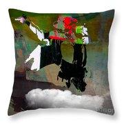 Michael Jackson Resurrected Throw Pillow by Marvin Blaine