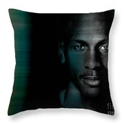 Michael Jordon Throw Pillow