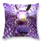 Micro Orchid Throw Pillow