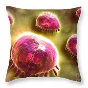 Microscopic View Of Phagocytic Throw Pillow