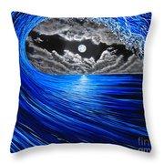 Midnight Bowling  Throw Pillow