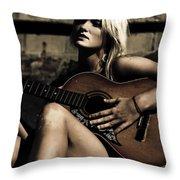 Midnight Musician Throw Pillow