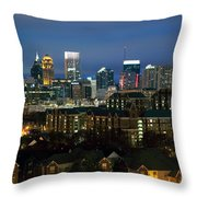 Midtown Atlanta Skyline At Dusk Throw Pillow