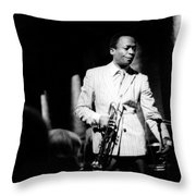 Miles Davis At The Penthouse Throw Pillow