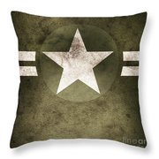 Military Army Star Background Throw Pillow