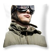 Military Man Throw Pillow