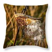 Milkweed Throw Pillow