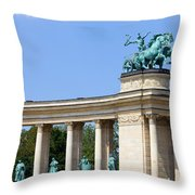 Millennium Monument In Budapest Throw Pillow