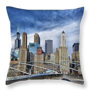 Millennium Skyline  Throw Pillow