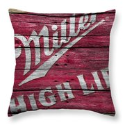 Miller High Life Throw Pillow