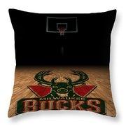 Milwaukee Bucks Throw Pillow