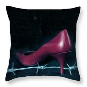 Mind Your Steps Throw Pillow
