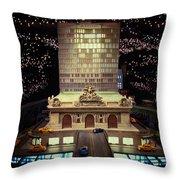 Mini Grand Central Throw Pillow
