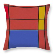 Minimalist Mondrian Throw Pillow