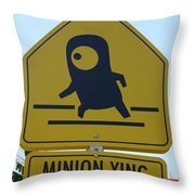 Minion Crossing Throw Pillow