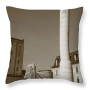 Minneapolis Smokestack Throw Pillow