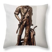 Minutemen Soldier Throw Pillow