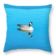 Mirror Goose Throw Pillow