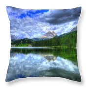 Mirror In The Sky Throw Pillow