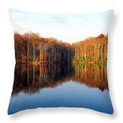 Mirror Lake Panoramic Throw Pillow