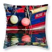 Miss Pattie At Lyme Regis Harbour  Throw Pillow